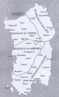 Cartina Sardegna Medievale.Il Periodo Giudicale Ed Eleonora D Arborea Sardegna In Tour